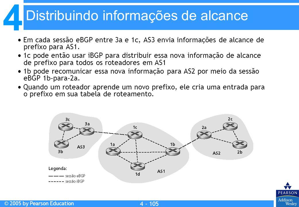 Distribuindo informações de alcance