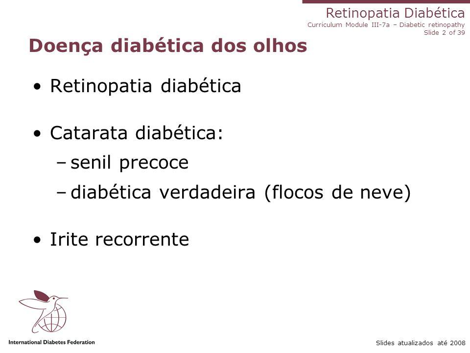 Doença diabética dos olhos