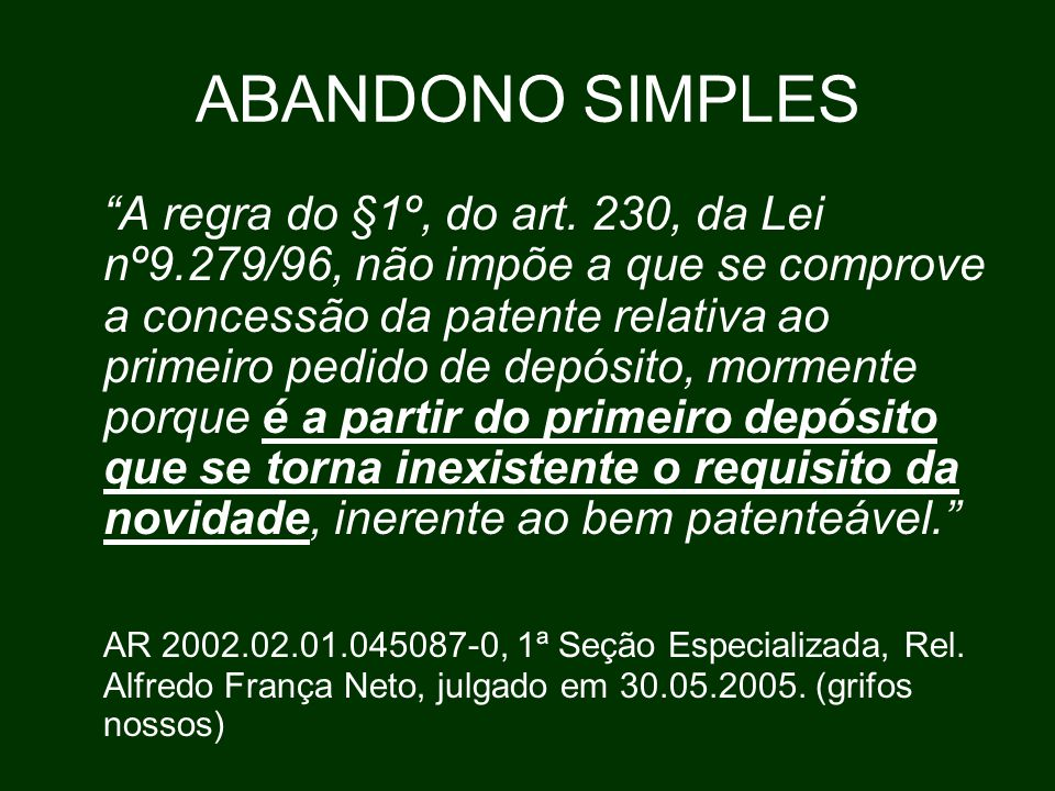 ABANDONO SIMPLES
