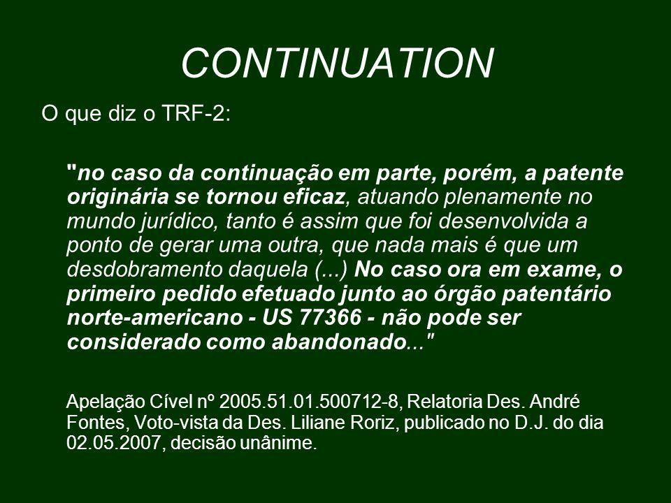 CONTINUATION O que diz o TRF-2: