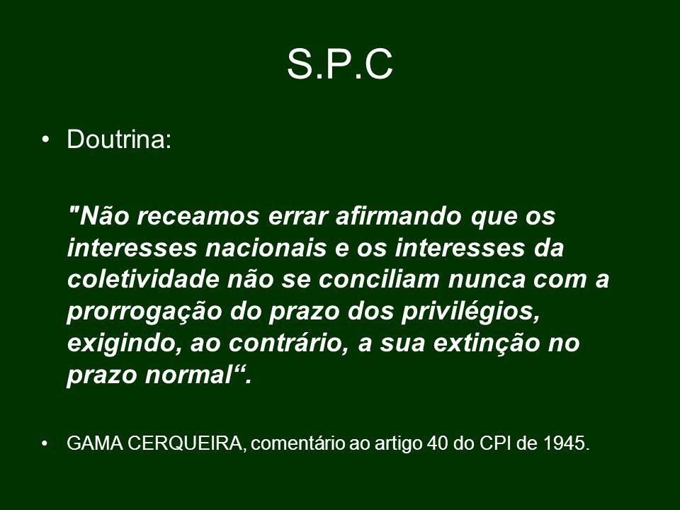 S.P.C Doutrina: