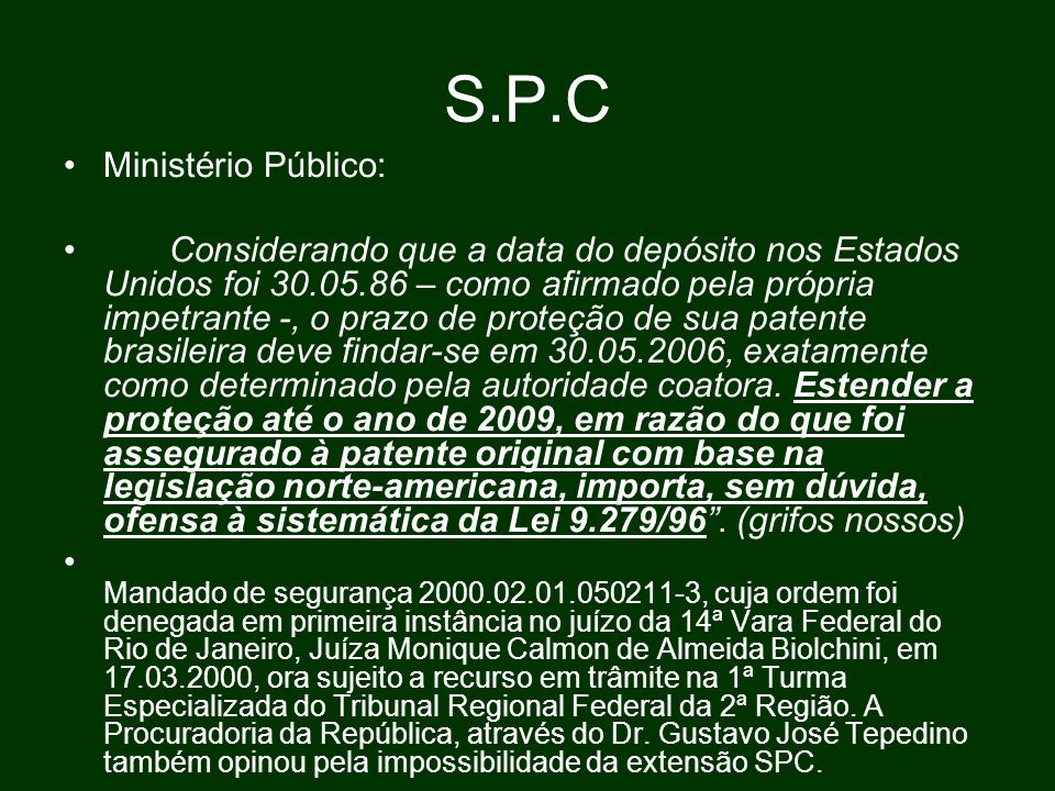 S.P.C Ministério Público:
