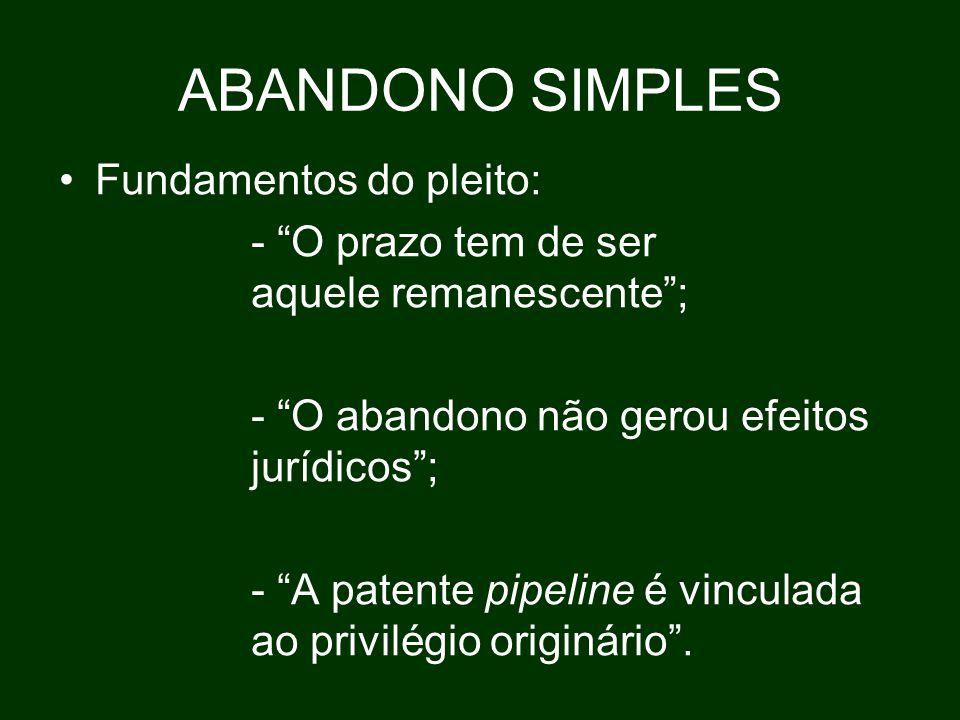ABANDONO SIMPLES Fundamentos do pleito:
