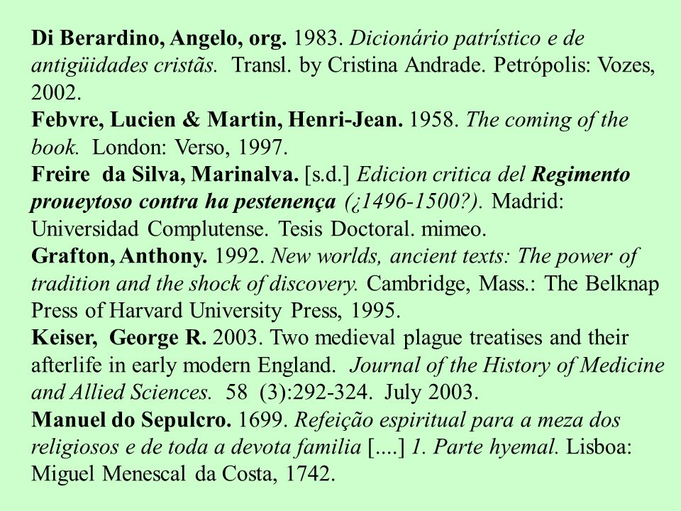Di Berardino, Angelo, org. 1983