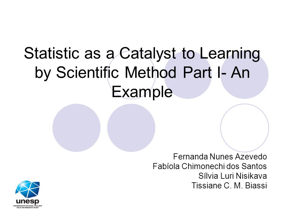 Statistic as a Catalyst to Learning by Scientific Method Part I- An Example