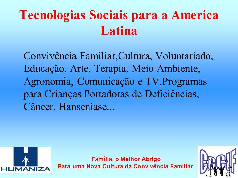 Tecnologias Sociais para a America Latina
