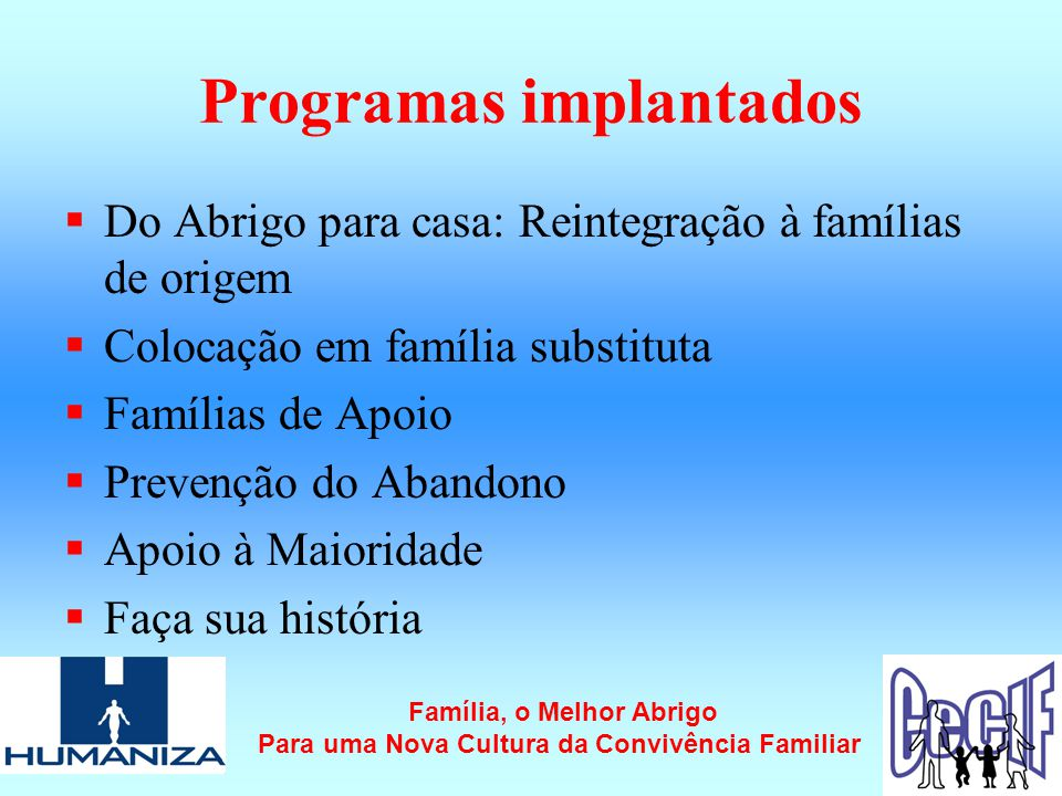 Programas implantados