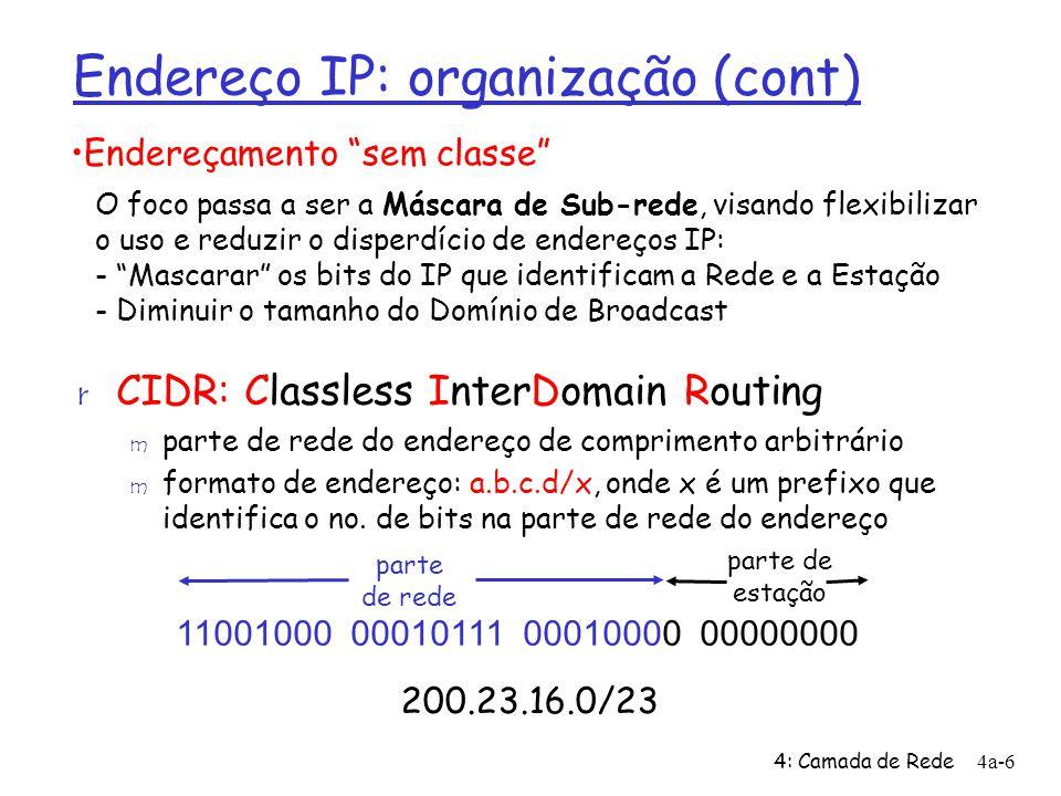 Endereço IP: organização (cont)
