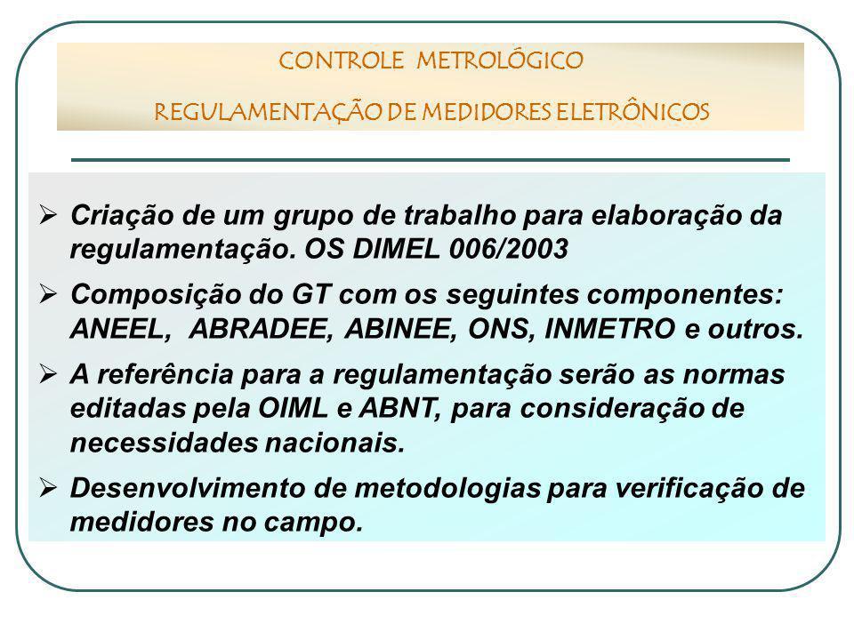REGULAMENTAÇÃO DE MEDIDORES ELETRÔNICOS