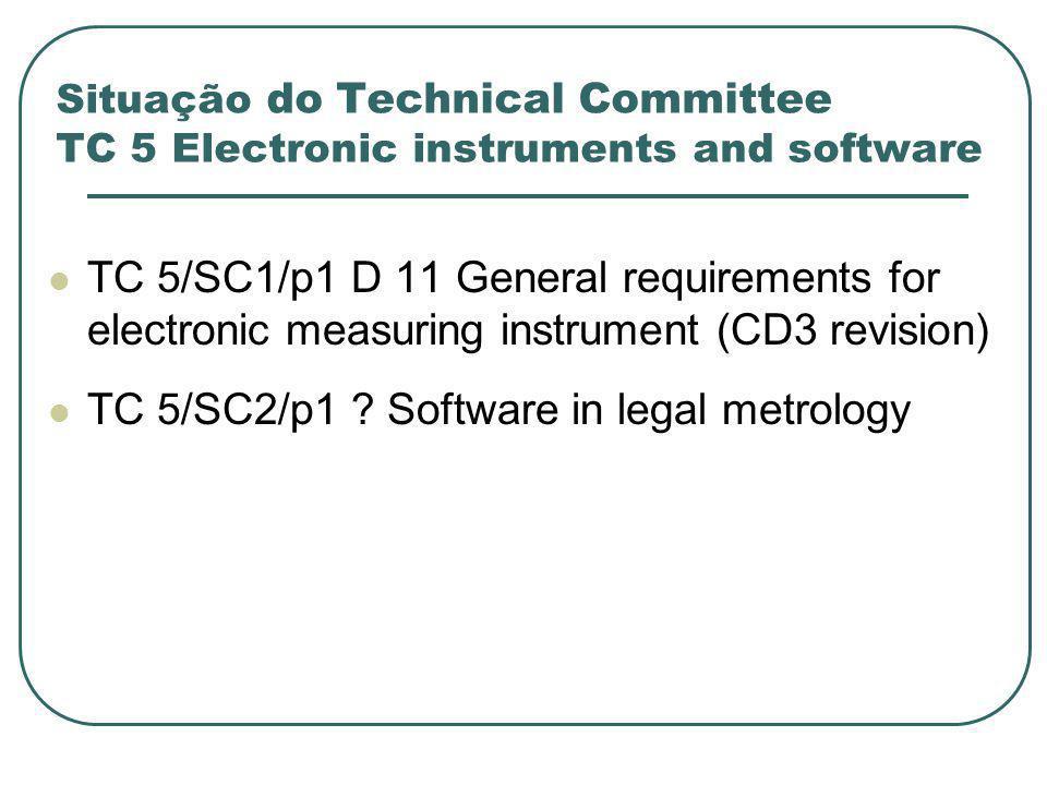 TC 5/SC2/p1 Software in legal metrology