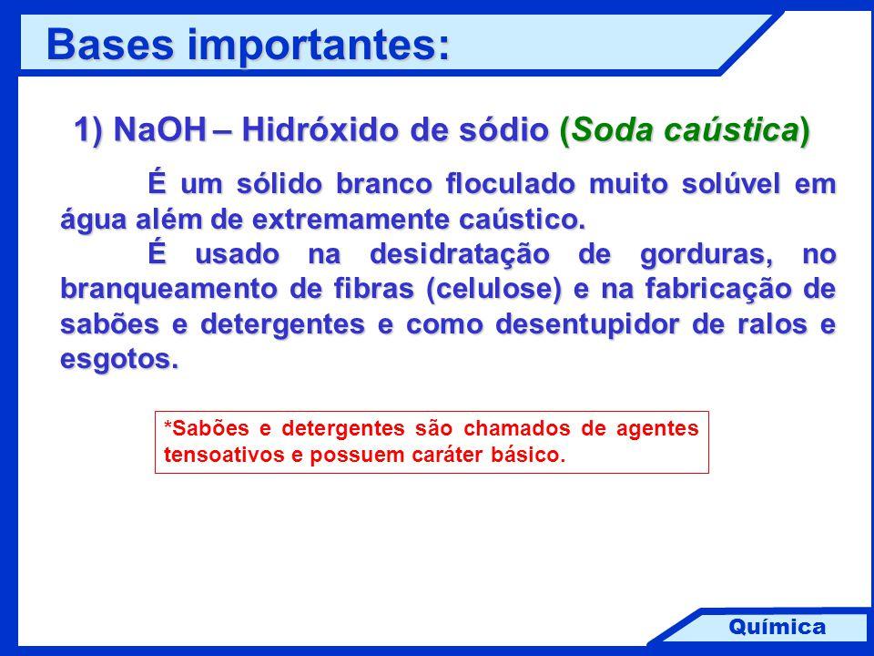 1) NaOH – Hidróxido de sódio (Soda caústica)