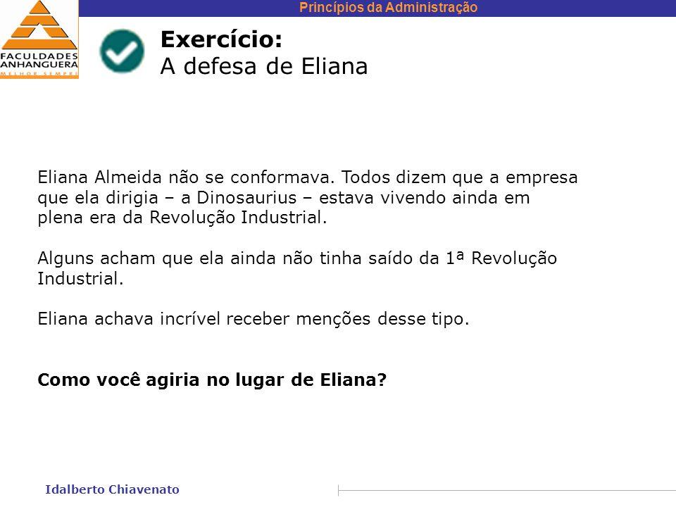Exercício: A defesa de Eliana