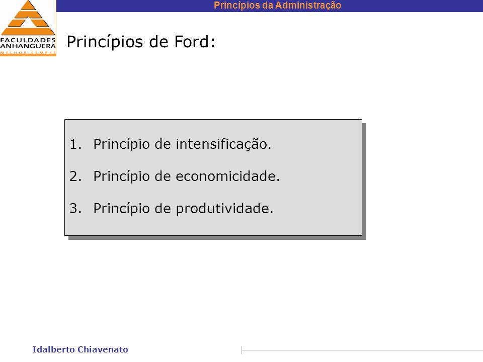 Princípios de Ford: Princípio de intensificação.