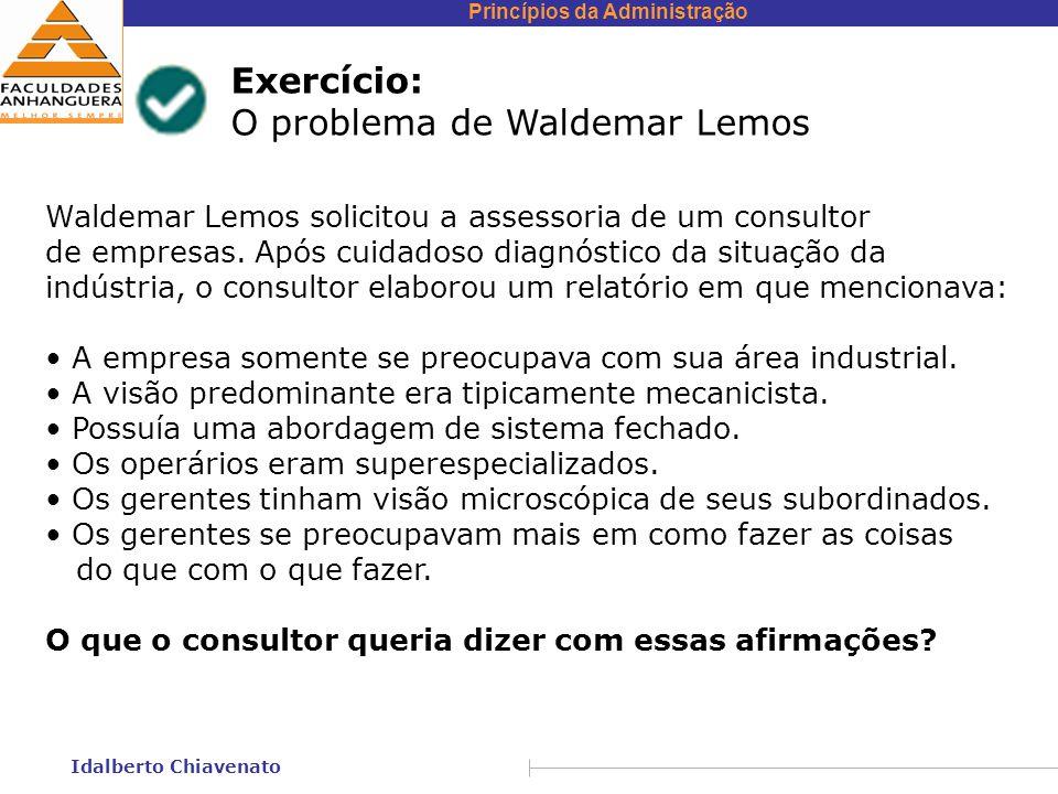 O problema de Waldemar Lemos