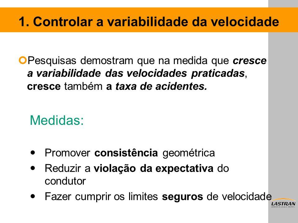 1. Controlar a variabilidade da velocidade