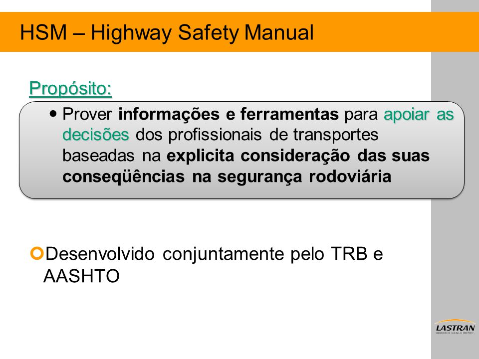 HSM – Highway Safety Manual