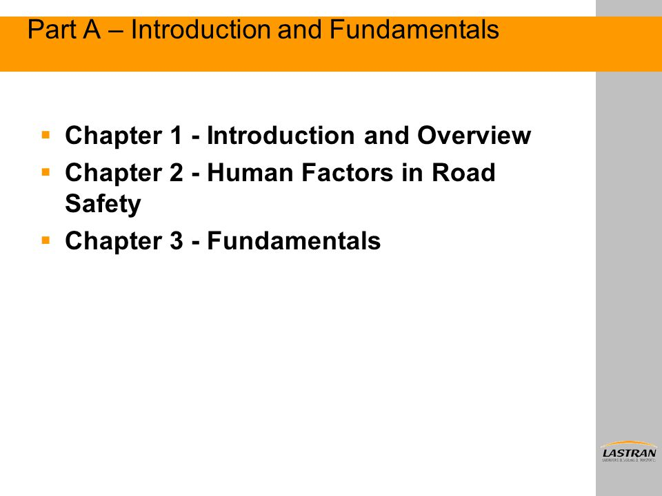 Part A – Introduction and Fundamentals