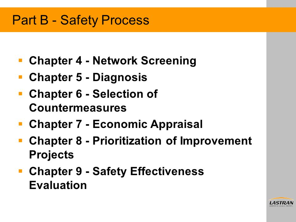 Part B - Safety Process Chapter 4 - Network Screening