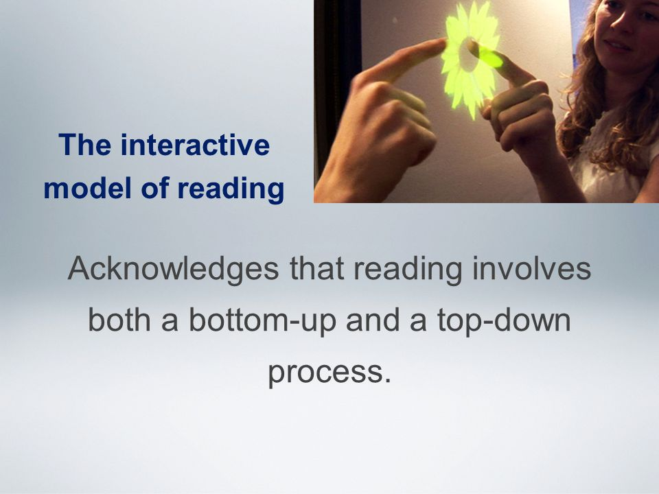 Acknowledges that reading involves