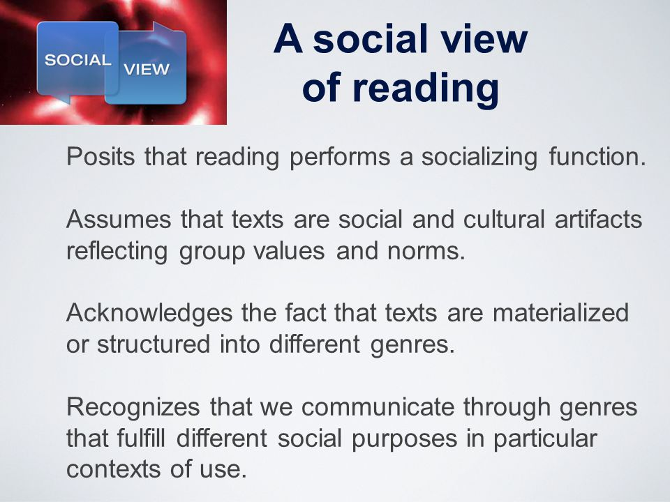 A social view of reading