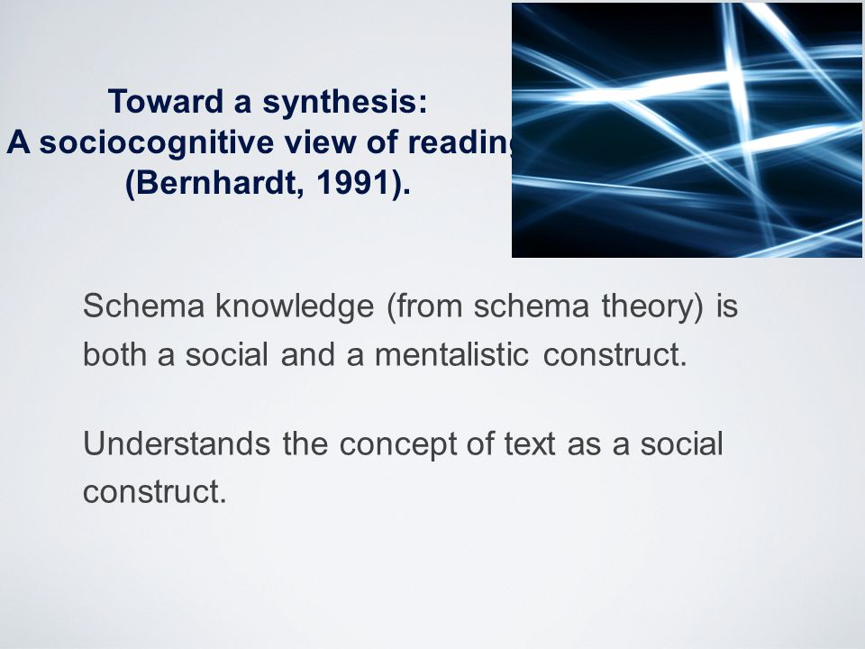A sociocognitive view of reading