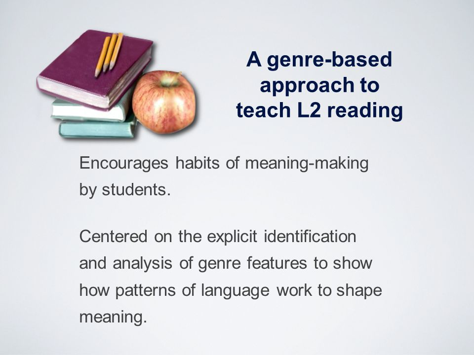 A genre-based approach to teach L2 reading