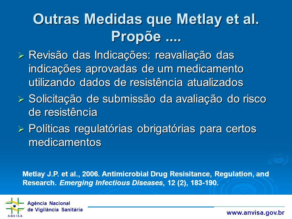 Outras Medidas que Metlay et al. Propõe ....