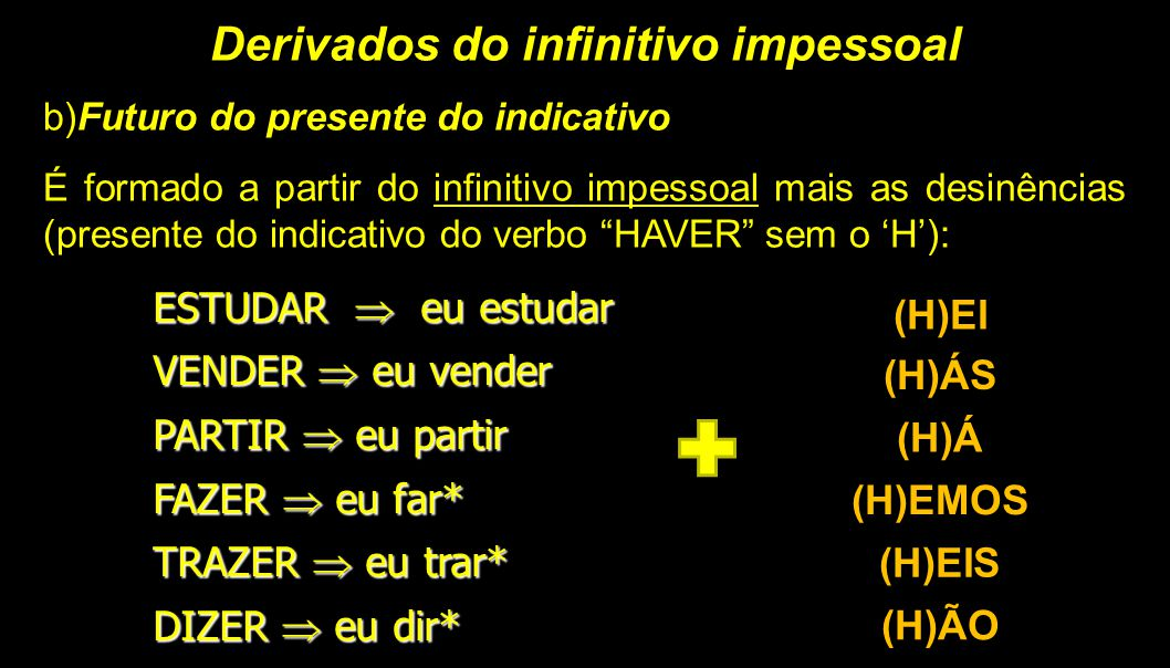 Derivados do infinitivo impessoal