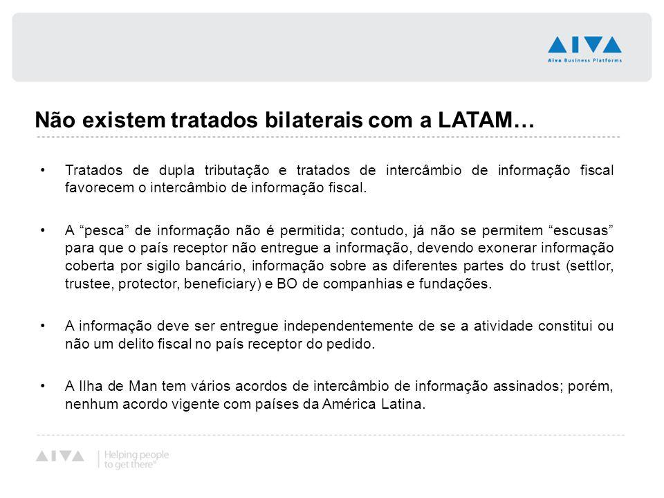 Não existem tratados bilaterais com a LATAM…