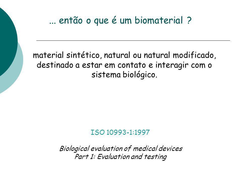 ... então o que é um biomaterial