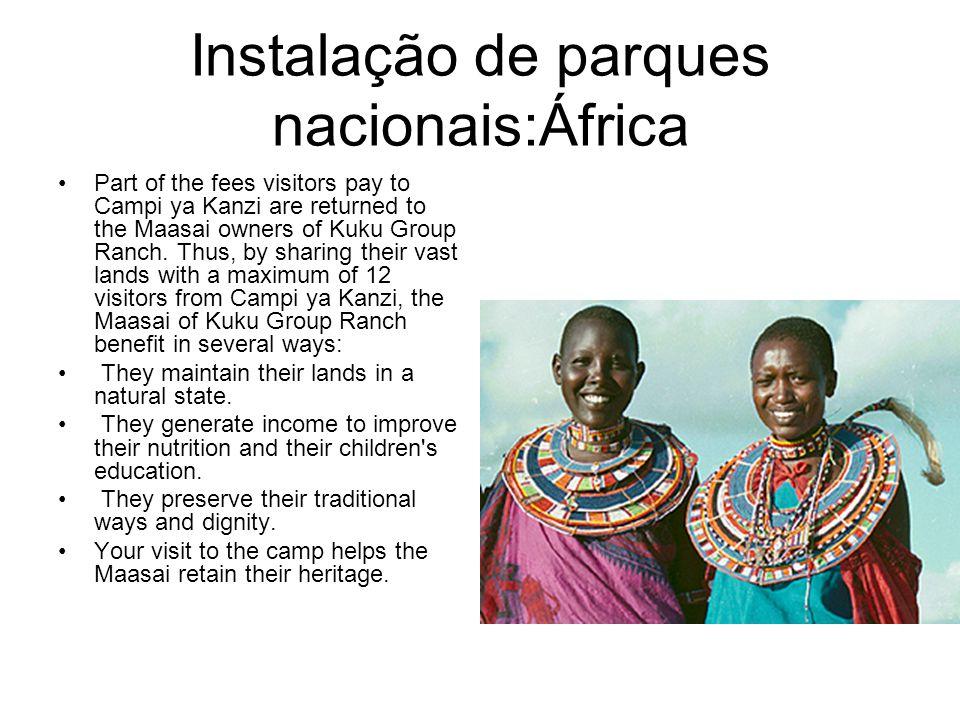 Instalação de parques nacionais:África