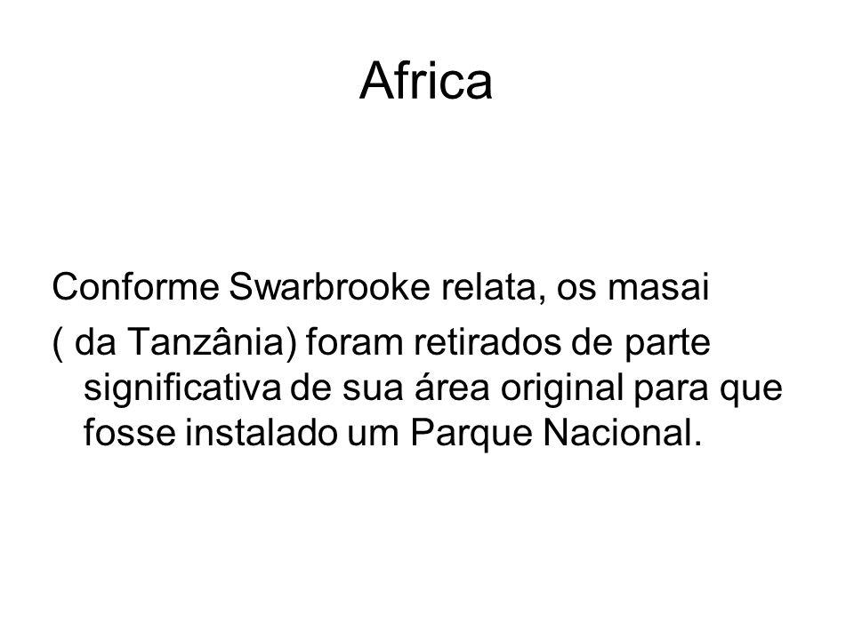 Africa Conforme Swarbrooke relata, os masai