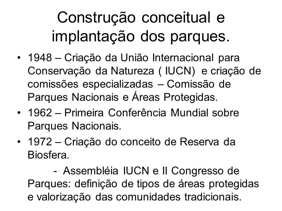 Construção conceitual e implantação dos parques.