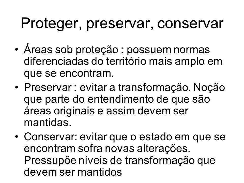 Proteger, preservar, conservar
