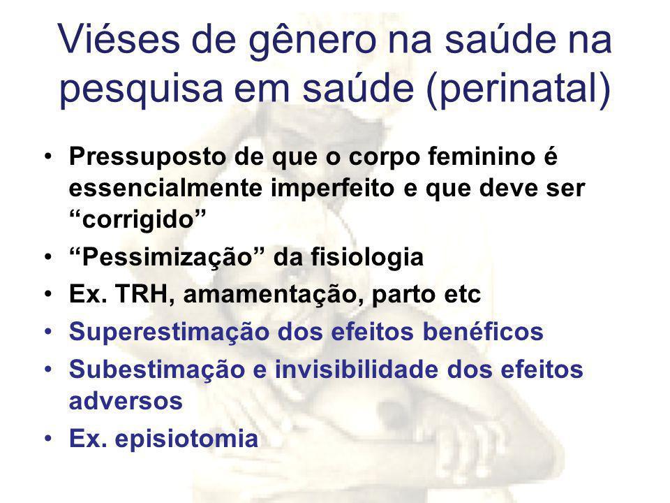 Viéses de gênero na saúde na pesquisa em saúde (perinatal)