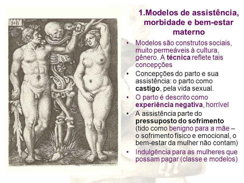1.Modelos de assistência, morbidade e bem-estar materno