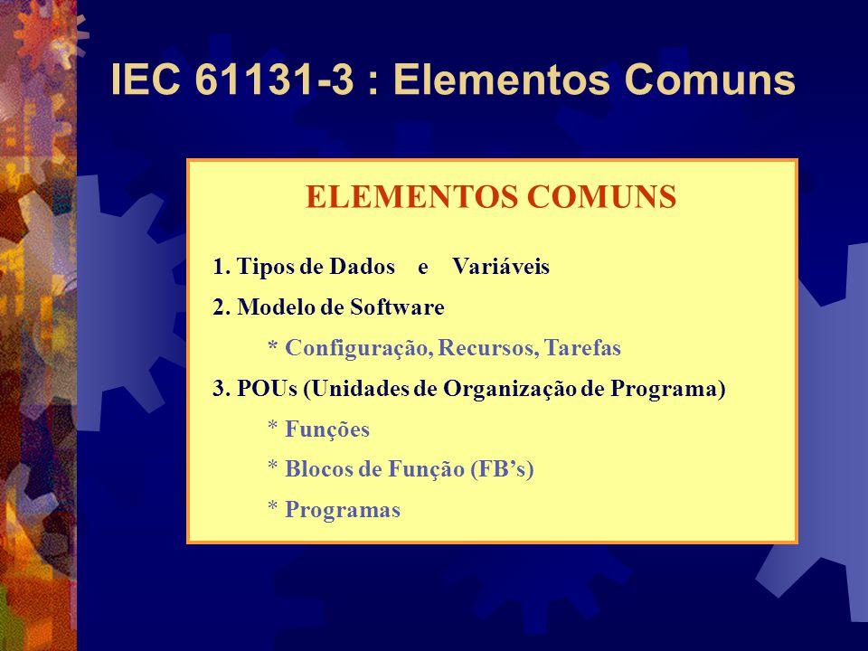 IEC 61131-3 : Elementos Comuns