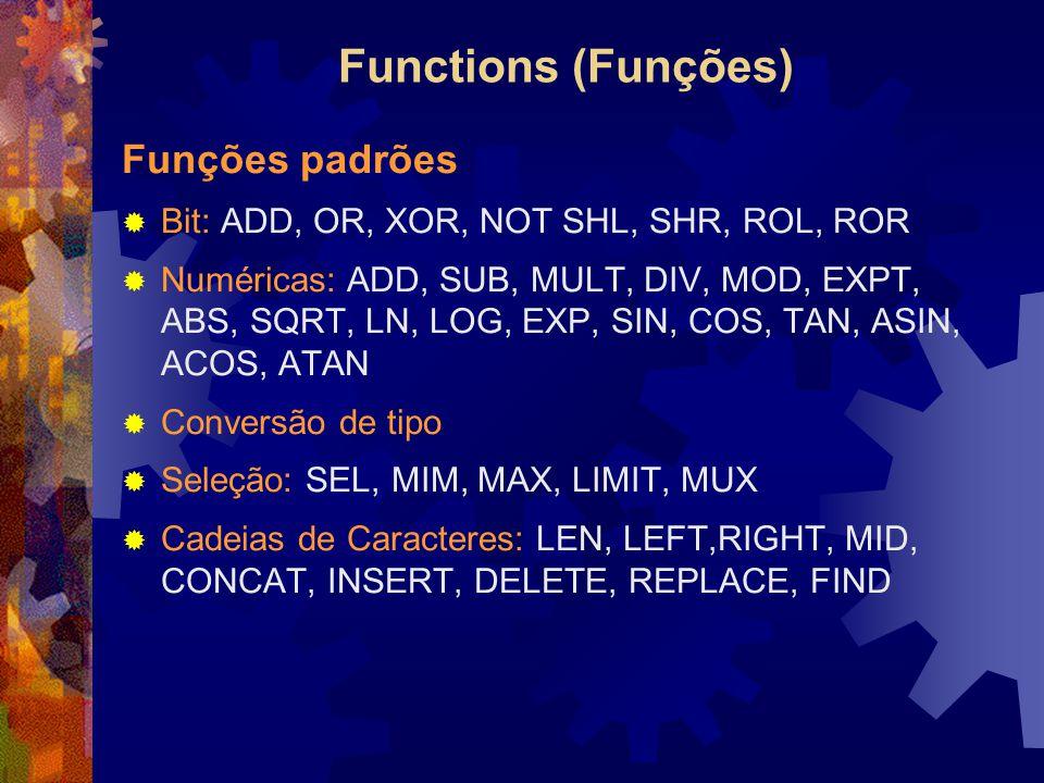 Functions (Funções) Funções padrões