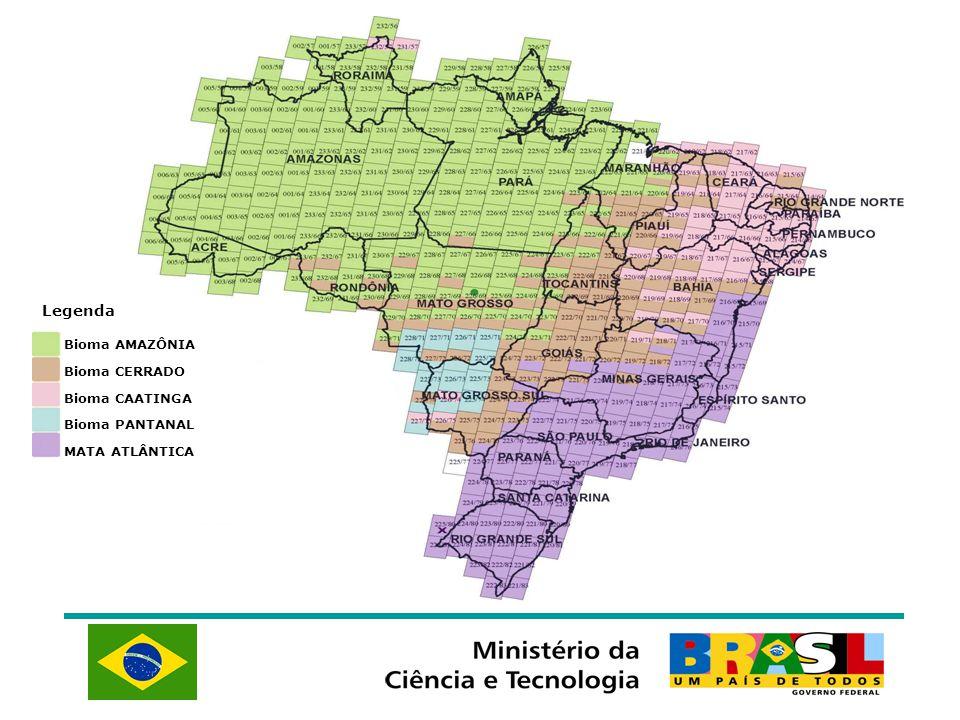 Legenda Bioma AMAZÔNIA Bioma CERRADO Bioma CAATINGA Bioma PANTANAL