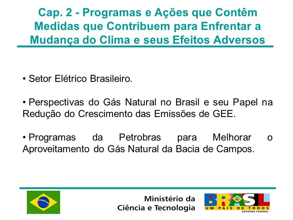 Cap. 2 - Programas e Ações que Contêm Medidas que Contribuem para Enfrentar a Mudança do Clima e seus Efeitos Adversos