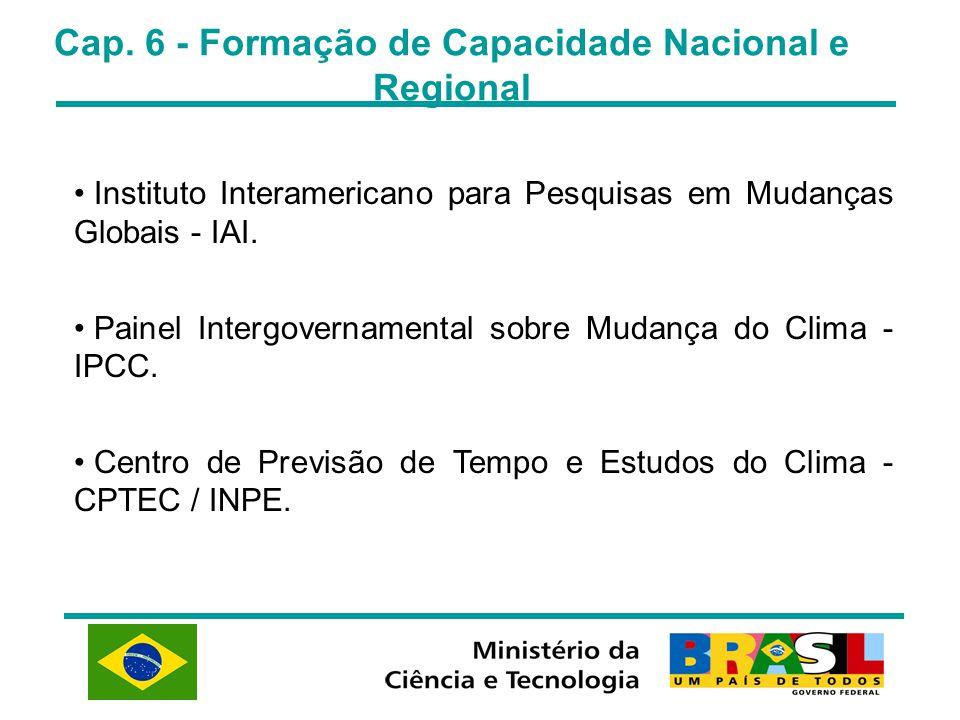 Cap. 6 - Formação de Capacidade Nacional e Regional