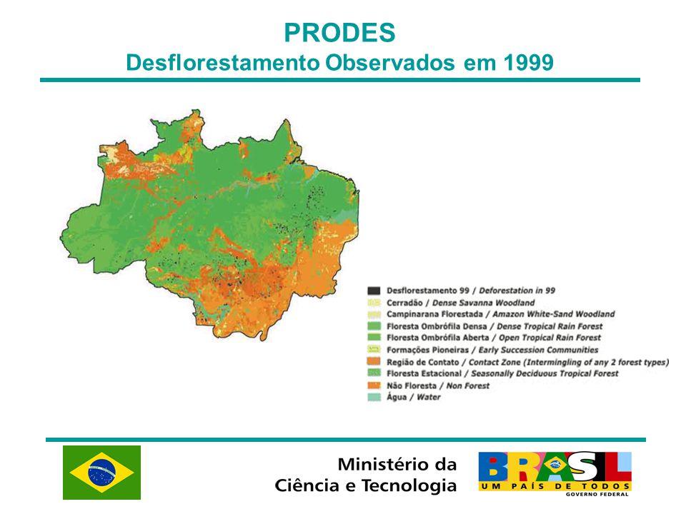 Desflorestamento Observados em 1999
