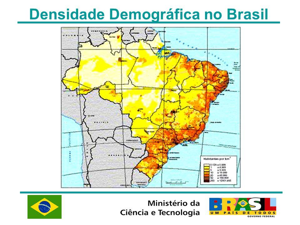 Densidade Demográfica no Brasil