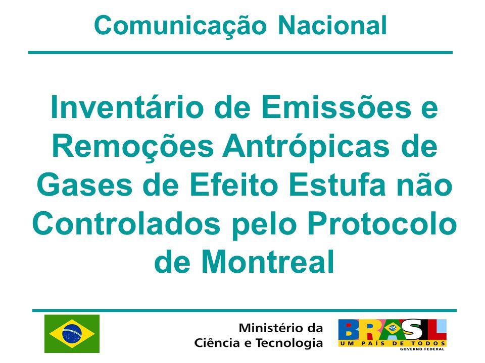 Comunicação Nacional Inventário de Emissões e Remoções Antrópicas de Gases de Efeito Estufa não Controlados pelo Protocolo de Montreal.