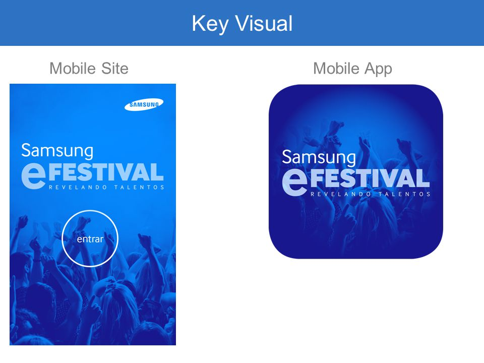 Key Visual Mobile Site Mobile App