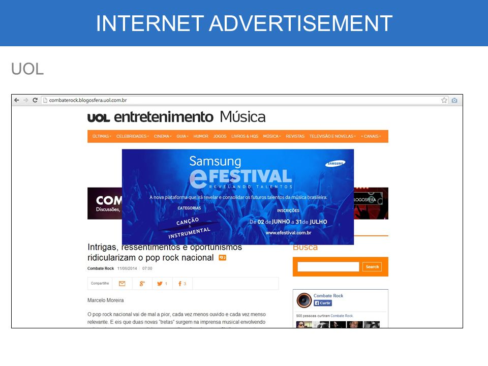 INTERNET ADVERTISEMENT