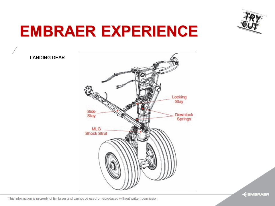 EMBRAER EXPERIENCE LANDING GEAR