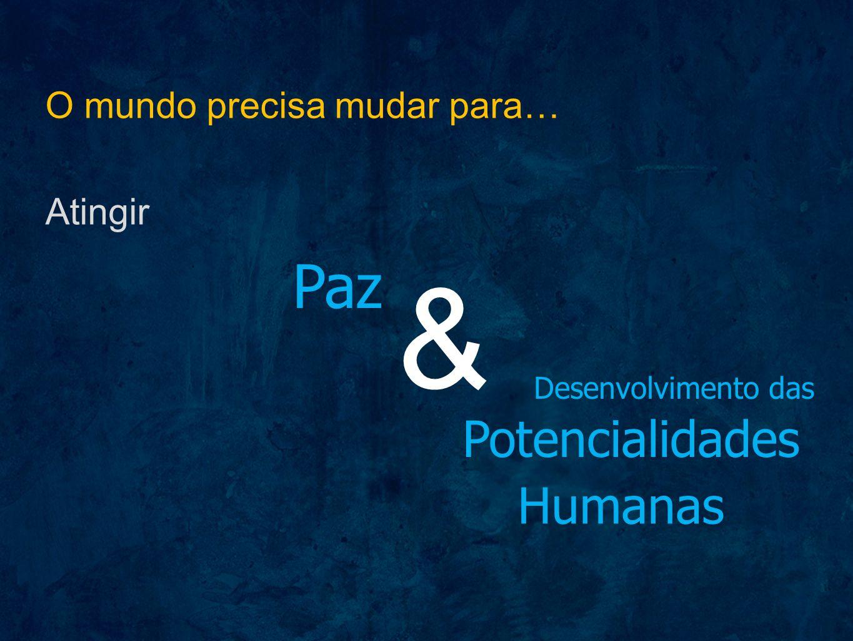 & Paz Potencialidades Humanas O mundo precisa mudar para… Atingir
