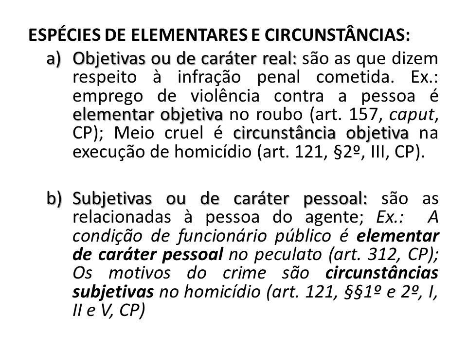 ESPÉCIES DE ELEMENTARES E CIRCUNSTÂNCIAS: