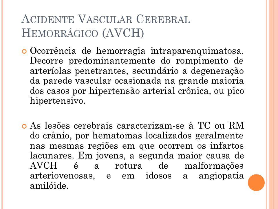 Acidente Vascular Cerebral Hemorrágico (AVCH)